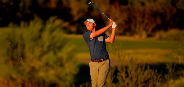 Seamus Power of Ireland hits his approach shot on the third hole during the first round of the Shriners Hospitals For Children Open at TPC Summerlin on November 2, 2017 in Las Vegas, Nevada. (Photo by Robert Laberge/Getty Images)