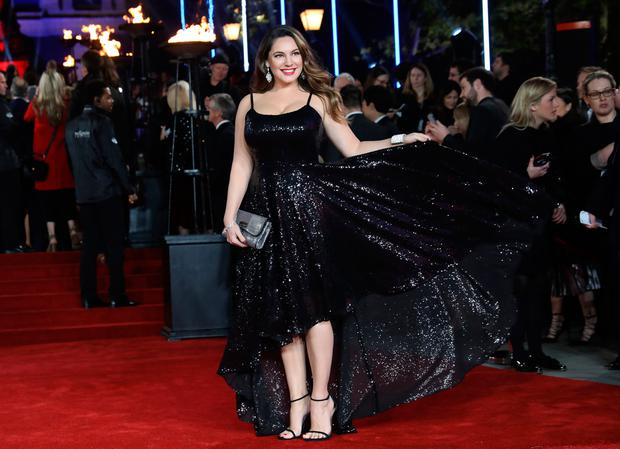Kelly Brook attends the 'Murder On The Orient Express' World Premiere held at Royal Albert Hall on November 2, 2017 in London, England. (Photo by Tim P. Whitby/Tim P. Whitby/Getty Images/for 21st Century Fox)