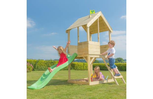 TP Wooden Multiplay Playhouse. Photo: Argos