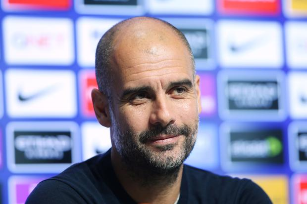Manchester City's Pep Guardiola speaks during a press conference at Manchester City Football Academy on November 3, 2017 in Manchester, England. (Photo by Tom Flathers/Manchester City FC via Getty Images)