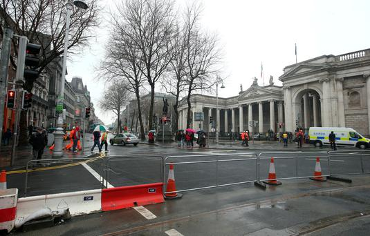 Dublin council wants to pedestrianise College Green. Photo: Damien Eagers