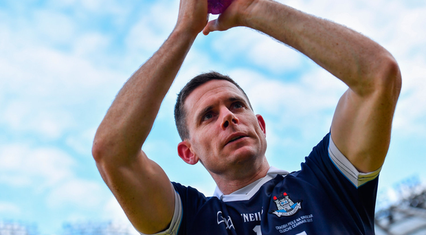 Dublin captain Stephen Cluxton applauds the supporters after the GAA Football All-Ireland Senior Championship Final match between Dublin and Mayo at Croke Park in Dublin. Photo by Brendan Moran/Sportsfile