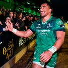Once he becomes an Ireland international, Aki's minutes will be managed and he will miss tranches of Connacht's season. Photo by Diarmuid Greene/Sportsfile