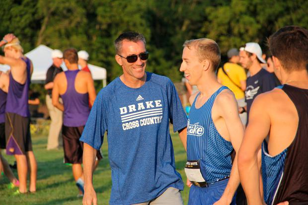 Carroll in his current role as director of track and field and cross country at Drake University.