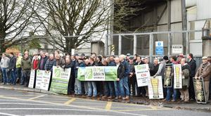 Malting barley farmer protest recently at the price they are receiving for their crop.