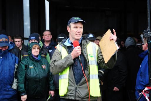 Paul Gibney, Teagasc, speaking at the Green Acres event on Michael Ryan's farm near Ballymore, Co Westmeath. Photograph: James Flynn/APX