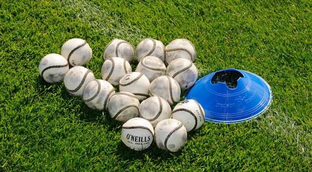 19 July 2008; Training sliothars on the pitch before the game. GAA Hurling All-Ireland Senior Championship Qualifier - Round 4, Offaly v Waterford, Thurles, Co. Tipperary. Picture credit: Ray McManus / SPORTSFILE
