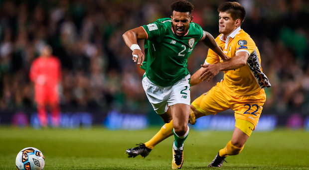 Cyrus Christie in action against Moldova. Photo: Sportsfile