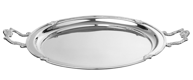 Ardingly Metal Tray, €45: A cluster of silver trays hanging on the wall can make a big impact; marksandspencer.ie