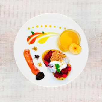 Fresh thinking: Kevin Thornton's breakfast was created using produce from the county and an ethos 'of excellence, ethics and integrity'