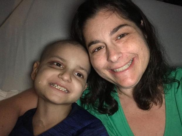 Jacob Thompson with his mother Michelle Simard (Image via Gofundme)