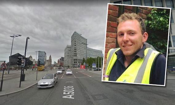 Matthew Bradley was enjoying a night out in the city with friends on Friday night when he was hit by a car in the Albert Dock area of Liverpool