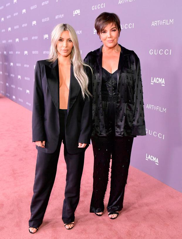 Kim Kardashian (L) and Kris Jenner attend the 2017 LACMA Art + Film Gala Honoring Mark Bradford and George Lucas presented by Gucci at LACMA on November 4, 2017 in Los Angeles, California. (Photo by Neilson Barnard/Getty Images for LACMA)