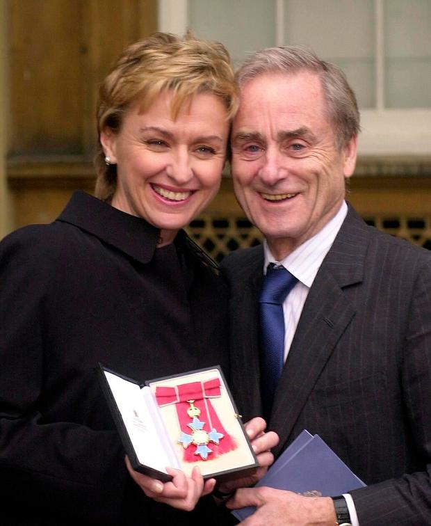 Tina Brown with her husband Harold Evans