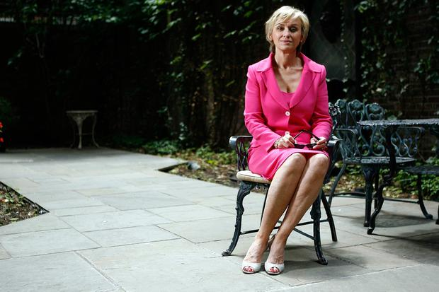 Tina Brown pictured at her New York apartment