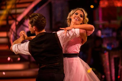 AJ Pritchard and Mollie King during dress rehearsals for the live show of the BBC1 dance contest, Strictly Come Dancing
