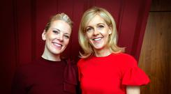 Pictured at the Irish Book awards 2017 shortlist in the Bord Gais Theatre were Sarah Crossan and Sinead Moriarty. Photo: Tony Gavin