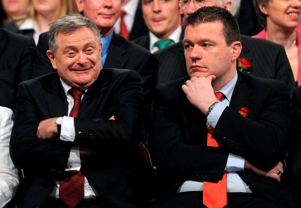 Labour leader Brendan Howlin with Alan Kelly