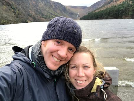 Mark Earley and his late wife, Liane Deasy, who died suddenly from a seizure at Glendalough in Spring of this year