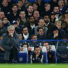 Jose Mourinho the head coach / manager of Manchester United during the Premier League match between Chelsea and Manchester United at Stamford Bridge on November 5, 2017 in London, England. (Photo by Catherine Ivill - AMA/Getty Images)