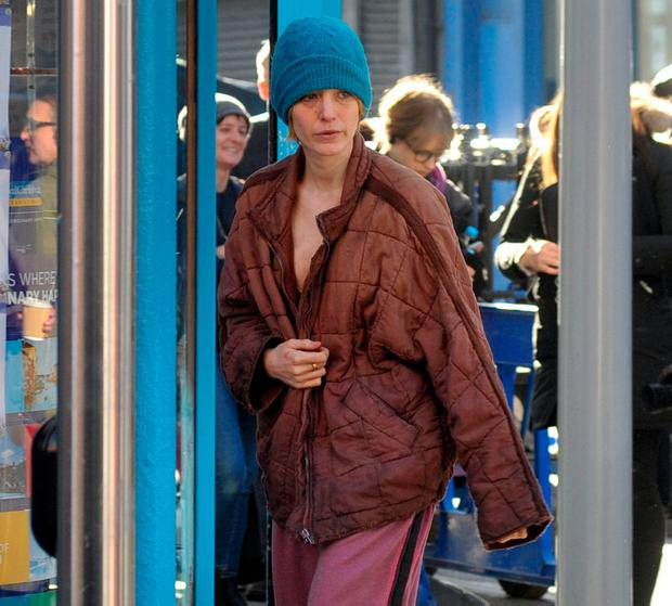 Hollywood actress Blake Lively looked barely recognizable on the first day of filming on her new movie called 'The Rhythm Section' on the streets of Dublin. Photo: John Dardis