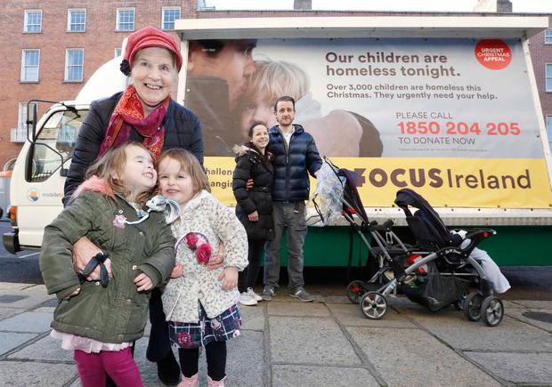 Sister Stanislaus Kennedy says charities cannot solve the housing crisis on their own. Photo: Photocall Ireland