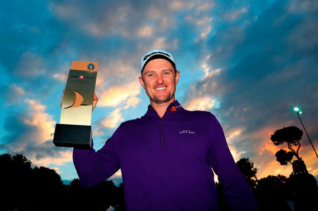 Justin Rose is now just 134,839 points behind long-time leader Fleetwood with two events remaining. Photo by Richard Heathcote/Getty Images