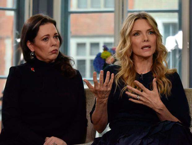 Actors Olivia Colman and Michelle Pfeiffer appeared on the BBC yesterday, where Pfeiffer described the mistreatment of women in Hollywood as 'systemic'. Photo: Reuters