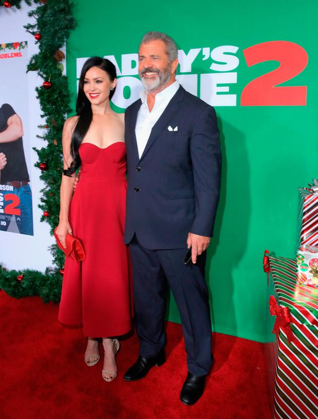 Rosalind Ross and Mel Gibson attend the Los Angeles Premiere of 'Daddy's Home 2' at Regency Village Theatre on November 5, 2017 in Westwood, California. (Photo by Rachel Murray/Getty Images for Paramount Pictures)
