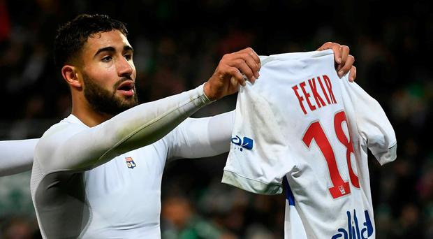 Lyon's French midfielder Nabil Fekir being strongly linked with a move to Liverpool