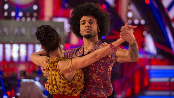 Aston during his final dance on Strictly Come Dancing