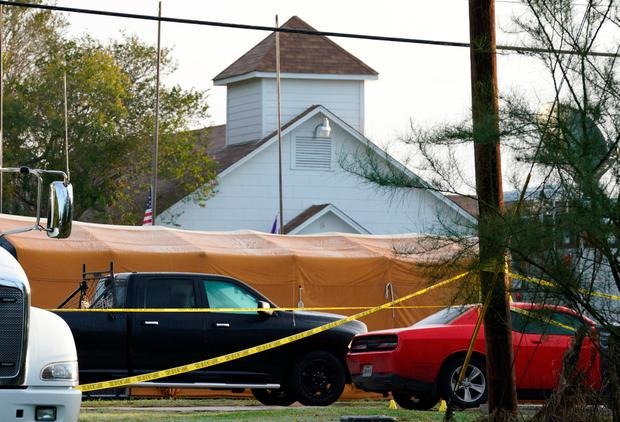 The site of a shooting at the First Baptist Church of Sutherland Springs, Texas U.S. November 6, 2017. REUTERS/Rick Wilking