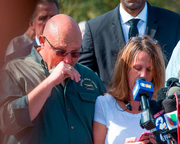 First Baptist Church Pastor Frank Pomeroy and his wife Sherri. Their 14-year-old daughter was among the 26 killed. Photo: AFP/Getty Images