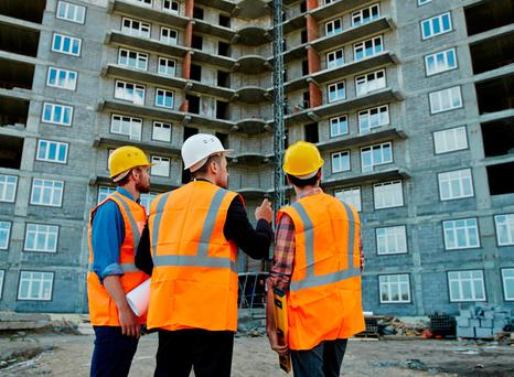 The construction industry had embraced the importance of safety. Stock photo