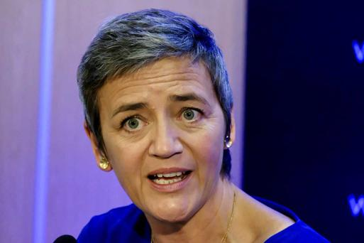 European Commissioner for Competition, Margrethe Vestager Credit: Adrian Weckler