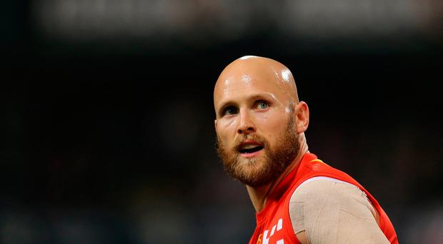 Gary Ablett of the Suns looks on during the round 20 AFL match between the Fremantle Dockers and the Gold Coast Suns at Domain Stadium on August 5, 2017 in Perth, Australia. (Photo by Will Russell/AFL Media/Getty Images)