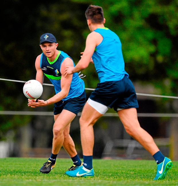 Pearce Hanley at Ireland training in Melbourne's Wesley College yesterday. Photo: Ray McManus/Sportsfile