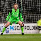 Caoimhin Kelleher of Liverpool U21 in action during the Pre-Season Friendly match between MK Dons and Liverpool U21 at Stadium mk on August 1, 2016 in Milton Keynes, England. (Photo by Pete Norton/Getty Images)