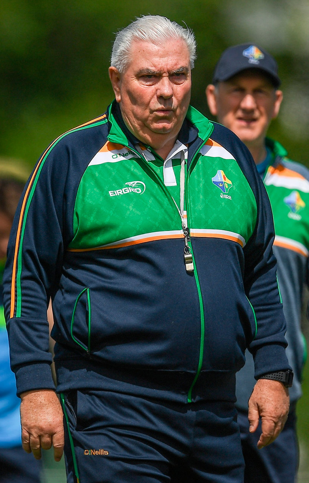 Ireland manager Joe Kernan during International Rules squad training in Melbourne. Photo: Ray McManus/Sportsfile