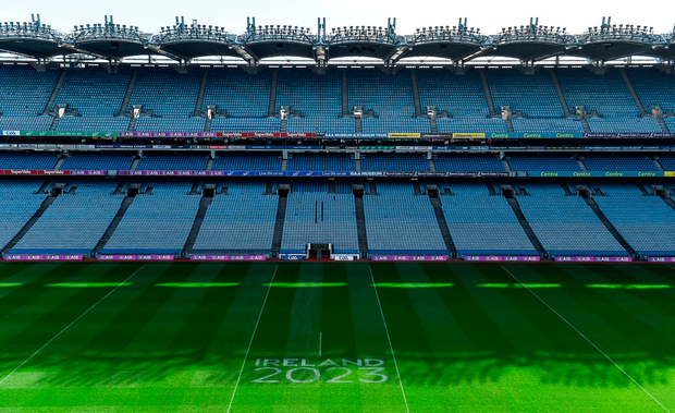 Besides Croke Park (pictured ahead of the World Rugby's visit back in March), many GAA grounds simply didn't compare to venues in France and South Africa. Photo: Brendan Moran/Sportsfile