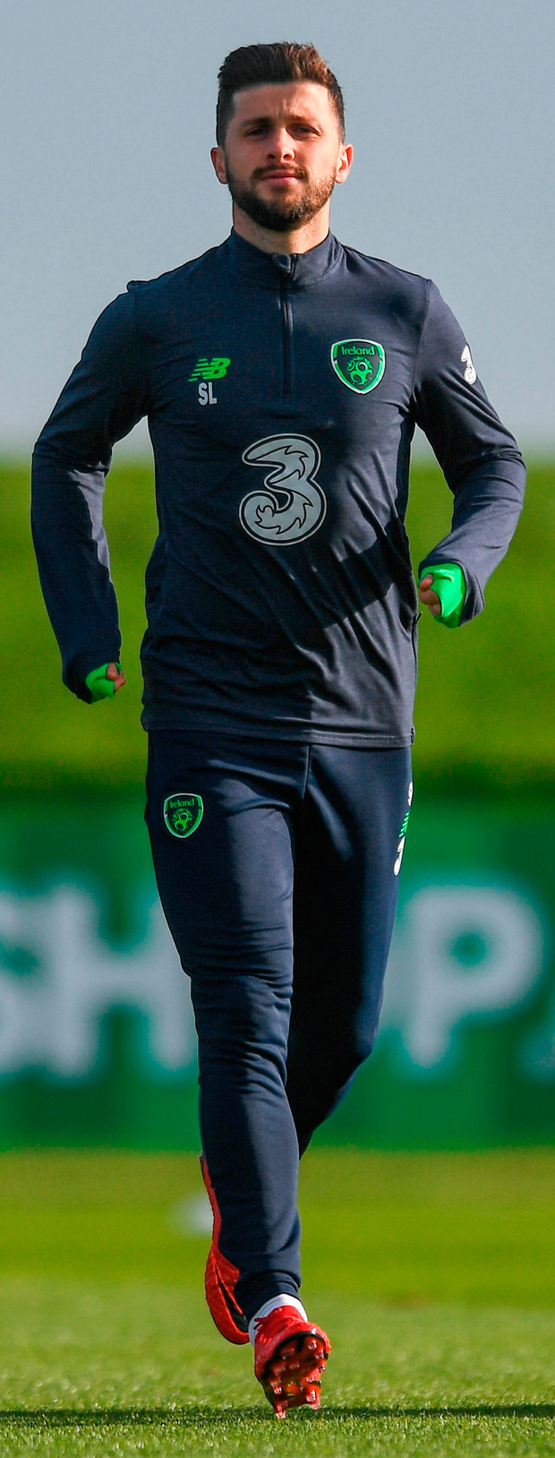 Shane Long during Republic of Ireland squad training. Photo: Eóin Noonan/Sportsfile