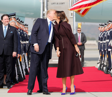 US President Donald Trump and first lady Melania arrive in Seoul, South Korea Photo: REUTERS/Jonathan Ernst