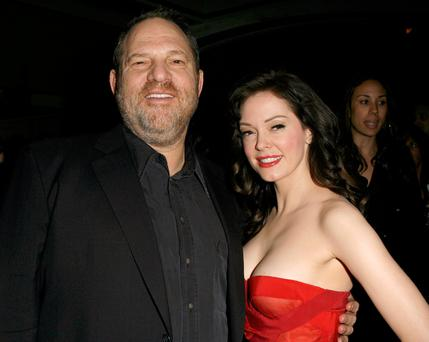 Harvey Weinstein and Rose McGowan at an after party for the 'Grindhouse' movie première in Los Angeles in 2007 Photo: Jeff Vespa/WireImage