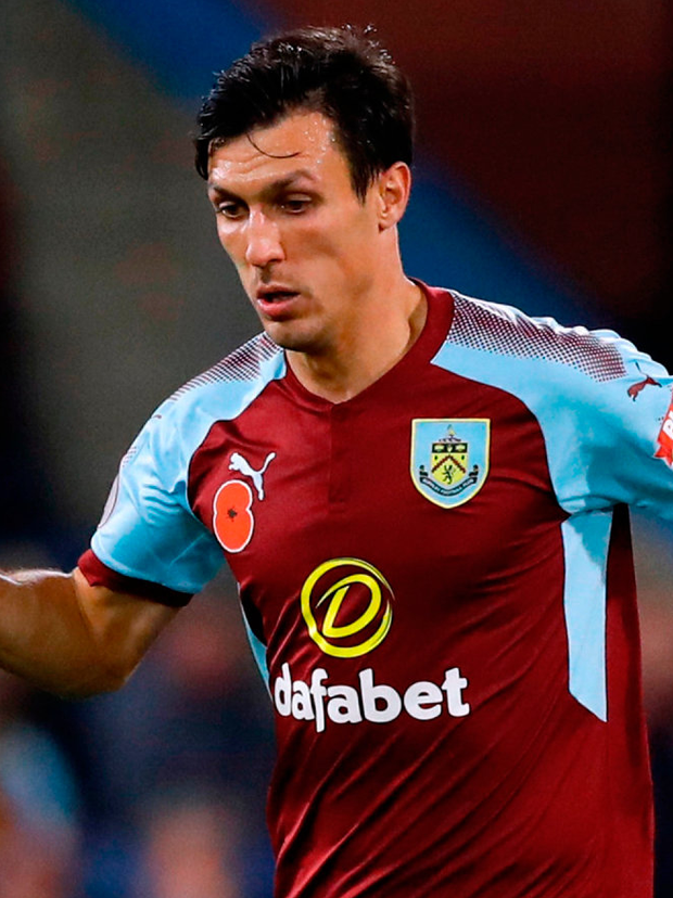 Burnley midfielder Jack Cork has been called up to the England squad for the friendlies against Germany and Brazil. Photo: Martin Rickett/PA