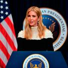 Advisor to US President Donald Trump, his daughter Ivanka Trump, speaks at a fireside chat on tax reform with at the Ronald Reagan Presidential Library in Simi Valley, California, on November 5, 2017. / AFP PHOTO / FREDERIC J,. BROWNFREDERIC J,. BROWN/AFP/Getty Images