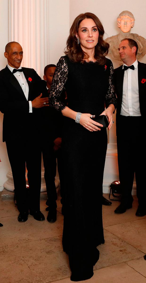 The Duchess of Cambridge arrives for the Anna Freud National Centre for Children and Families (AFNCCF) gala dinner at Kensington Palace, London