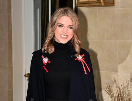 Amy Huberman at the Jaguar & The Ireland Funds Women's Lunch 2017 for women in business and philanthropy at The Merrion Hotel