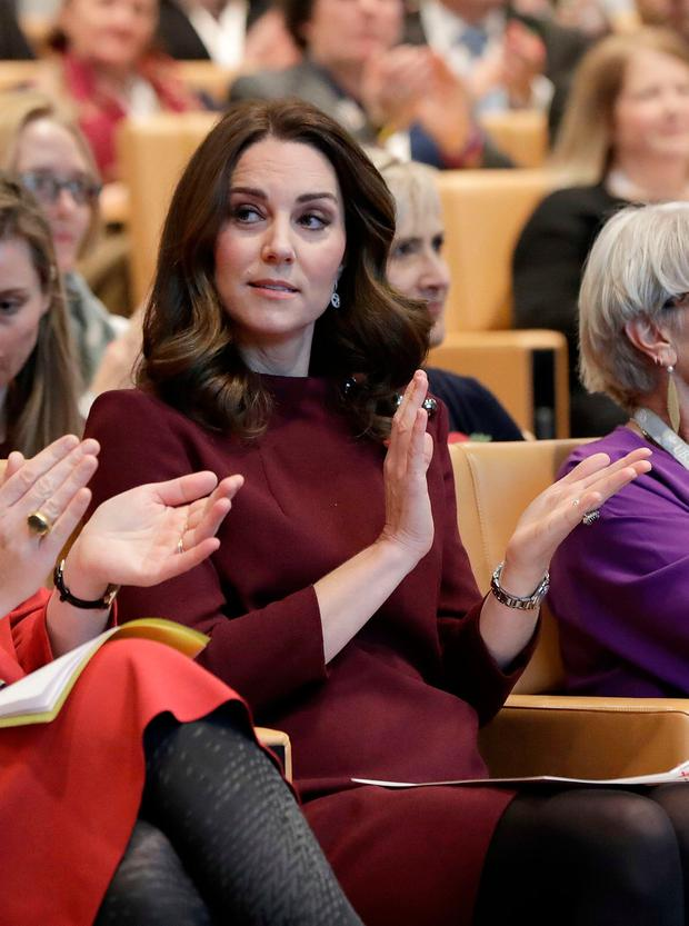 Britain's Catherine, the Duchess of Cambridge, visits The Bridge Academy at the annual Place2Be School Leaders Forum at UBS London, London, Britain, November 8, 2017. REUTERS/John Phillips/Pool