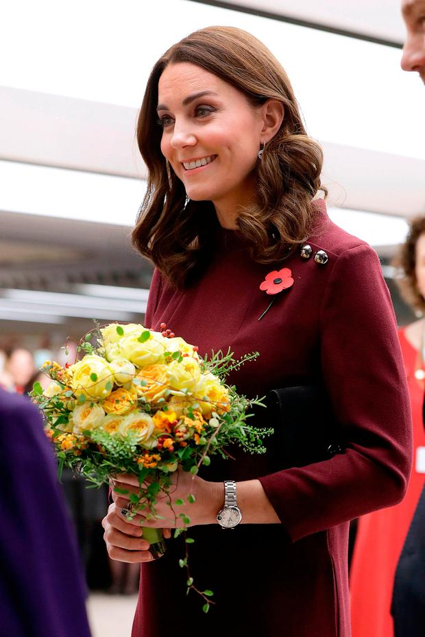 Britain's Catherine, Duchess of Cambridge and patron of national children's mental health charity Place2Be, attends the annual Place2Be School Leaders Forum in London on November 8, 2017. / AFP PHOTO / POOL / John PhillipsJOHN PHILLIPS/AFP/Getty Images