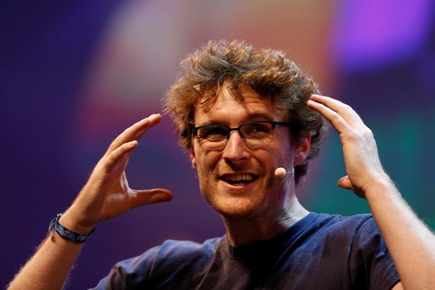 Web Summit's co-founder Paddy Cosgrave speaks during the inauguration of Web Summit, Europe's biggest tech conference, in Lisbon, Portugal. Photo: Reuters